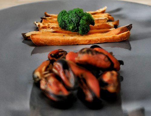 Healthy plates – Cartofi dulci și scoici
